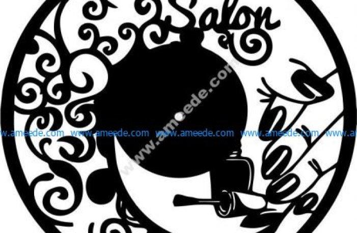 clock in nail salon for women