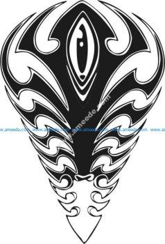 pattern of arrowhead or dart