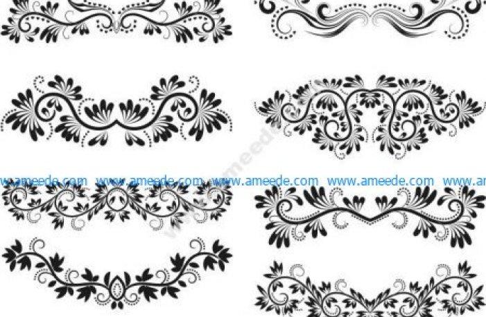 six beautiful wire flower patterns
