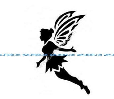 Flying fairy Peter Pan tinkerbell