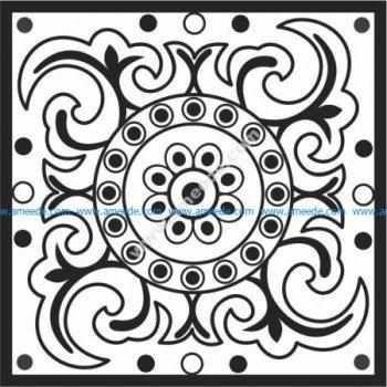 Grass-shaped pattern