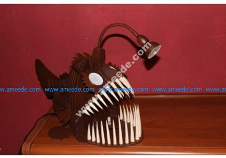 Laser Cut Angler Fish Lamp