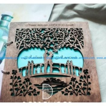 Laser Cut Book Cover