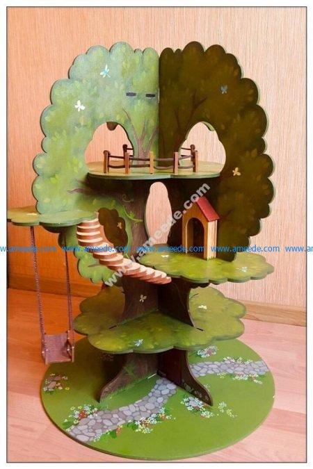 Laser Cut Tree House Model Kit