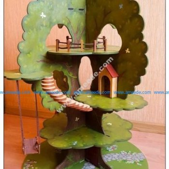 Laser Cut Tree House Model Kit