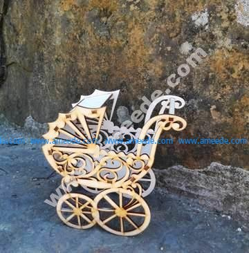Baby Strollers Pram Laser cut