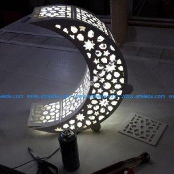 Crescent Moon Night Light Lamp