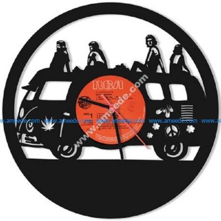 DISC Wall Clock Hippie