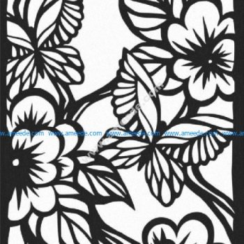 Floral and butterfly motifs