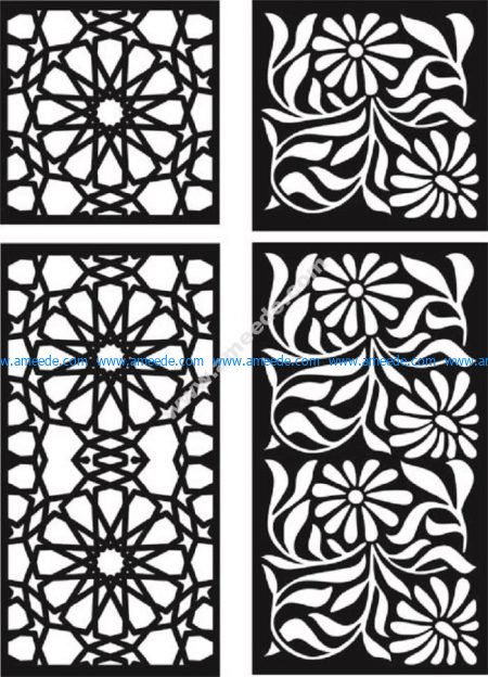Floral woodcut background