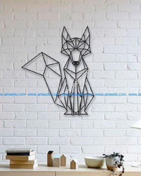 Fox Wall Sculpture