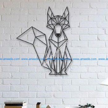 Fox Wall Sculpture