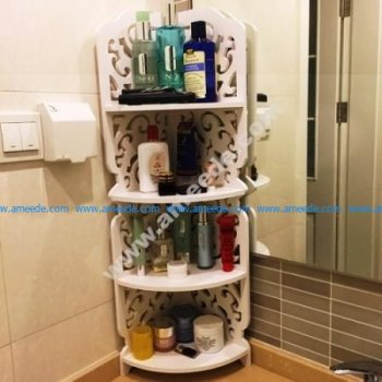 Free Vector Corner Shelf Bathroom Cosmetic Storage