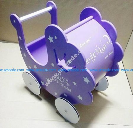 Laser Cut Baby Stroller