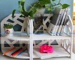Laser Cut Book Storage Drawer Display Shelf Rack