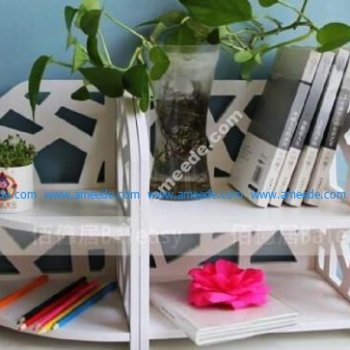 Laser Cut Book Storage Drawer Display Shelf Rack