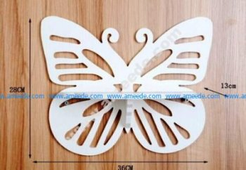 Laser Cut Butterfly Shelf Vector