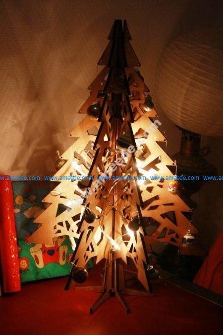 Laser Cut Christmas Tree 3D