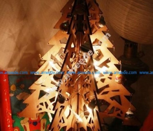 Laser Cut Christmas Tree 3D