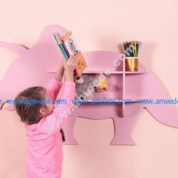 Laser Cut Dinosaur Shelf Furniture