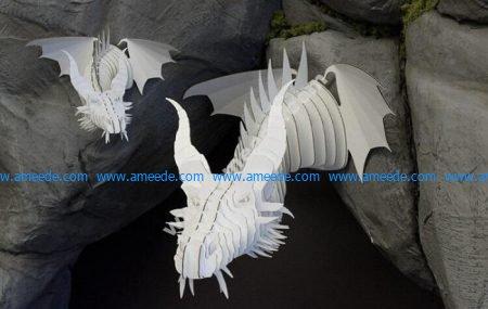 Laser Cut Dragon Head Template