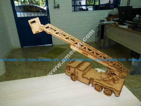 Laser Cut Fire Brigade Ladder Truck