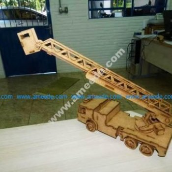 Laser Cut Fire Brigade Ladder Truck