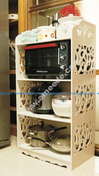 Laser Cut Shelf Rack for Kitchen