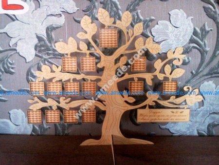Laser Cut Tree Family Frame