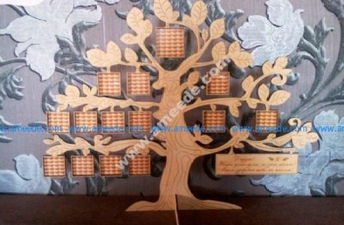 Laser Cut Tree Family Frame