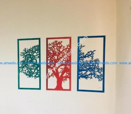Laser Cut Wall Decor Tree