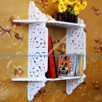 Laser Cut Wall Shelf Cutting Template