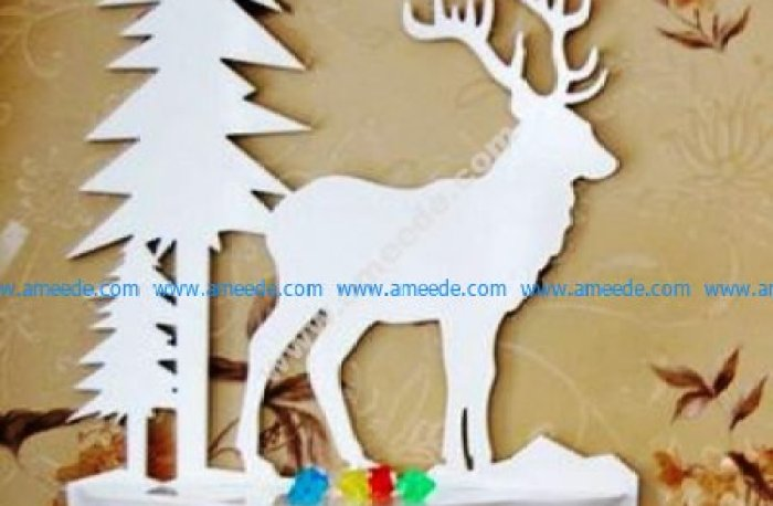 Laser Cut Wall Shelf Deer