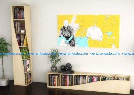 Vector Twisted Book Shelf Home Decor