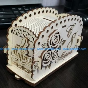 laser cut money box