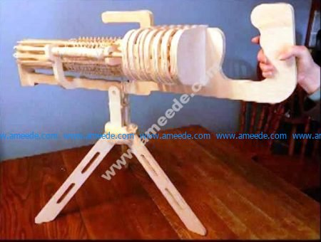 Laser Cut Machine Gun 3D Puzzle