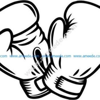 Boxing athlete icon