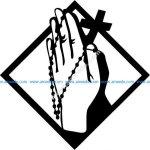 Crucifix icon of Christian followers