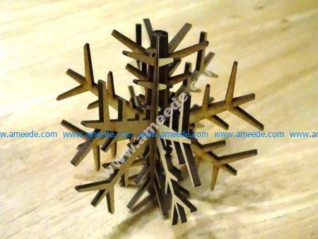 Decorative Plywood Snow flake