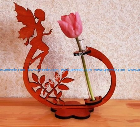Flower Holder with Fairy