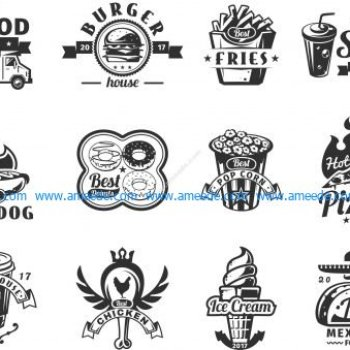 Food Logo Set