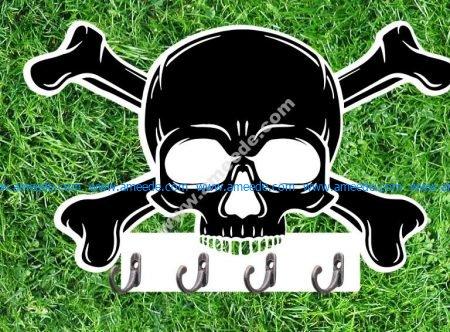 Key Holder Crossed Skull Bones