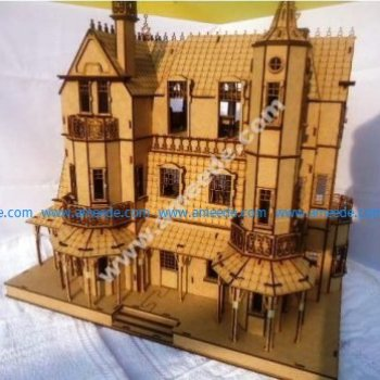 Laser Cut Baskerville Hall