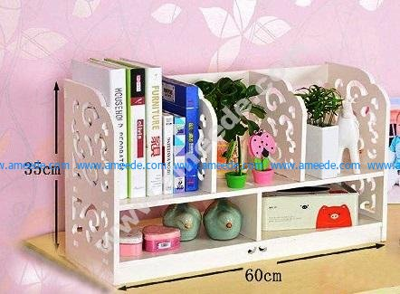 Laser Cut Bookshelf Storage Rack