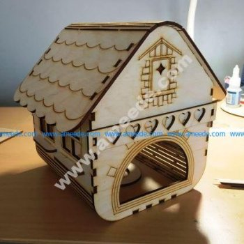 Laser Cut Small Wooden House