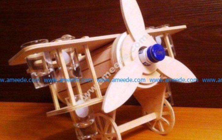 Mini Bar Plane Shape Template