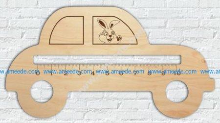 Model laser cutting ruler