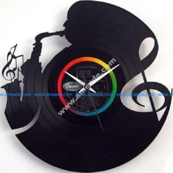 Orologio in vinile Music Clock