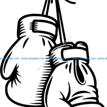 The gloves of the sportsman sport boxing