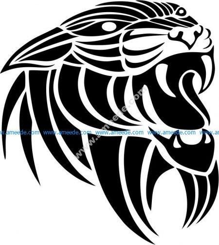 Vector lion head pattern